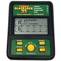 Vtg Radica VIDEO BLACKJACK 21 Electronic Handheld Game AAA