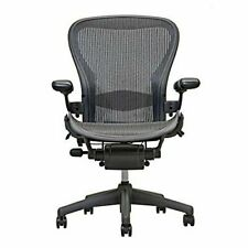 New Listingherman Miller Aeron Chair Open Box Size B Fully Loaded Black Chair