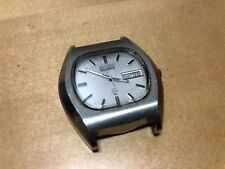 Vintage Watch Reloj SEIKO SQ Quartz - Steel Day Date - No Funciona