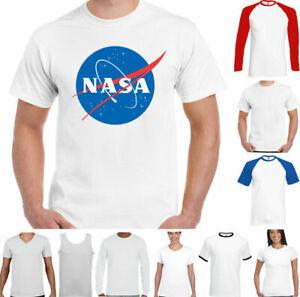 NASA T-SHIRT Mens Big Bang Theory Logo Retro Space Sheldon Cooper Geek Nerd Top