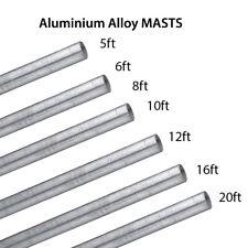 More details for 5' 6' 8' 10' 12' 16' 20' ft alloy aluminium mast pole mounting aerial satellite
