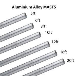 5' 6' 8' 10' 12' 16' 20' ft ALLOY aluminium Mast Pole Mounting Aerial Satellite