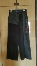 OHDD Pants Wide Legs Womens Size 28 Black Denim Pants Made in Italy