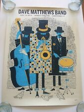 Dave Matthews Band Poster 7/12/2014 Hartford Ct Stamped & Numbered 77/785