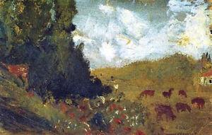"Landscape with Animals (1917) by Salvador Dali -17"" x 22"" Fine Art Print - 00977"