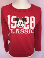 Mickey Mouse Classic S/CH/(3-5)/Juniors Girls Red Long Sleeve T-Shirt #K1