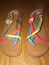 ee3400e695f JESSICA SIMPSON Rainbow Sandals Mary Jane Ballet Flats Shoes Women Size 9  j