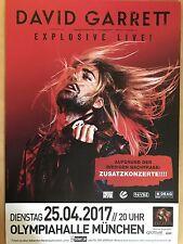 DAVID GARRETT 25.04.2017 MÜNCHEN - orig.Concert Poster -- Konzert Plakat  A1 NEU