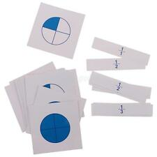 Montessori Mathematics Math Learning Toy Fraction Cards Kids Educational Toy