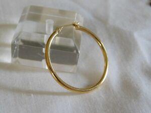 Single 14K Yellow Gold Hoop Earring .6 Gram