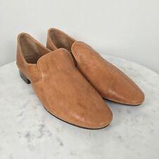 FRYE Women's Ashley Slip On Italian Leather Shoes NWOB $198 Oxford 11M Camel