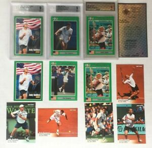 1991 2003 Netpro  Andre Agassi Pete Sampras Roddick Prototype and Beckett graded