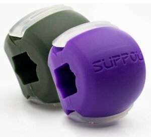 Suppou Jaw Exerciser Elite Jaw Facial Conditioner 2 Pack Purple Green