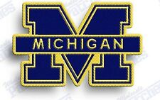 MICHIGAN WOLVERINES   iron on embroidered PATCH COLLEGE UNIVERSITY SPORTS SCHOOL