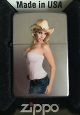 ZIPPO LIGHTER SPECIAL EDITION 'COWGIRL 1' SEXY PIN-UP GIRL 2014 NEW & BOXED