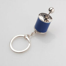 Key Ring Keychain Gear Shift 6-Speed Manual Transmission Turbo Keyring