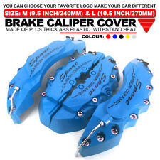 """4x Universal Sport Style Disc Brake Caliper Cover Front & Rear Blue 10.5"""" LW03"""