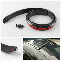 Carbon Fiber Surface Soft Rubber Car Rear Roof Trunk Spoiler Wing Lip Trim Decal