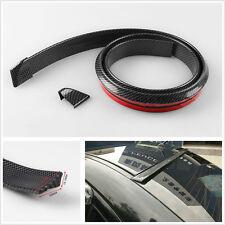 Carbon Fiber Surface Soft Rubber Car Rear Roof Trunk Spoiler Wing Lip Trim Decal