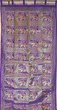 "Purple Elephant Curtain - Designer Elegant Shimmering Brocade Window Panel 92"""