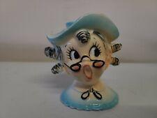 1959 Holt Howard Lady Candle Holder  Flower Frog Hat Pin Figurine