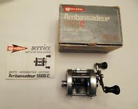 Garcia AMBASSADEUR 5500C Casting Fishing Reel With Box (Some wear) New Old Stock