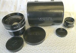 Yashica Yashinon Aux Wide Angle Lens + Aux Wide Angle Viewer + Leather Case