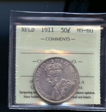 1911 Newfoundland 50 Cents ICCS Certified MS60   IC3