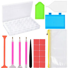 CO_ 20Pcs 5D Diamond Painting Storage Box Pen Embroidery Cross Stitch Tool Kit A