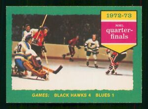 BLACK HAWKS 4 BLUES 1 1973-74 O-PEE-CHEE 1973-74 NO 193 EXMINT     56494