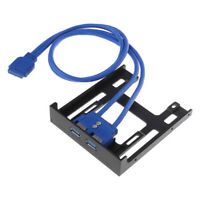 """20Pin 3.5"""" front panel 2 ports USB 3.0 expansion adapter connector floppy bay NW"""