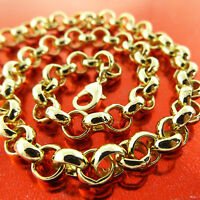Necklace Chain Real 18k Yellow G/F Gold Solid Heavy Belcher Link Design 51cm