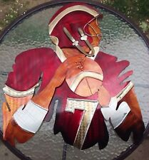 Football Player Metal Painted Sculpture Wall Art College Pro Sports 3Dimensional