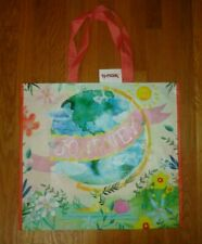 New TJ Maxx Large Shopping Tote Bag Reusable Bag World Journey Globe Floral