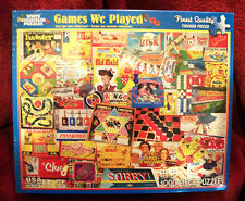 """NIB White Mountain Puzzles """"Games We Played"""" 1000 Piece Jigsaw Puzzle"""