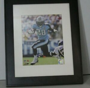 """Chris Johnson Tennessee Titans NFL Action Photo (8"""" x 10"""") in frame 17x14"""
