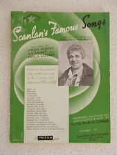 Wm Scanlan Famous Songs Irish Minstrel Voice Piano Unmarked
