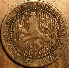 1892 NETHERLAND 1 CENT COPPER COIN