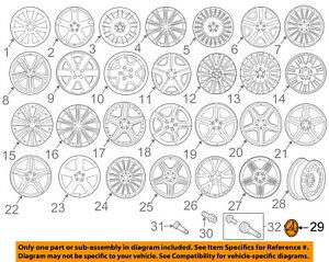 Wheel Cap-Hub - Sterling Silver w/Chrome Star MERCEDES-BENZ OEM 66470206