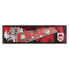 ST GEORGE ILLAWARRA DRAGONS NRL Bar Runner Mat Man Cave Pool Room Birthday Gift