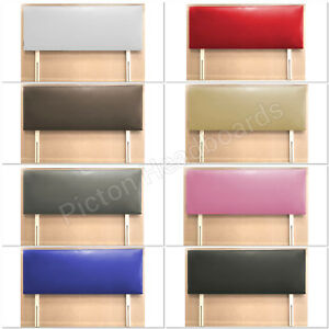 DIVAN FAUX LEATHER HEADBOARD ALL COLOURS & SIZES AVAILABLE BEST QUALITY ONLINE