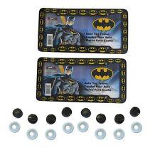 Black New Batman Classic Logo Car Truck Plastic License Plate Frame & Screw Caps