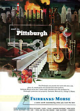 Fairbanks-Morse Pittsburgh Steel Industry FRANCIS CHASE Coal 1952 Print Ad