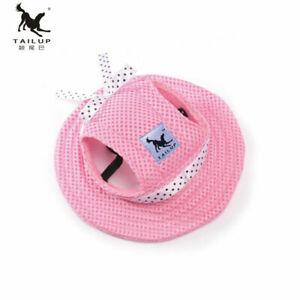 Bonnet Sun  Visor Hat  Puppy Cap Princess Hat Canvas  Small  Pet Outdoor