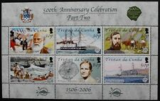 500th anniversary of discovery of Tristan da Cunha, part two stamp sheet, MNH