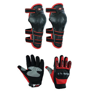 Kids Motorcycle Motorbike Reinforced Safety Quad Glove With Knee Pad