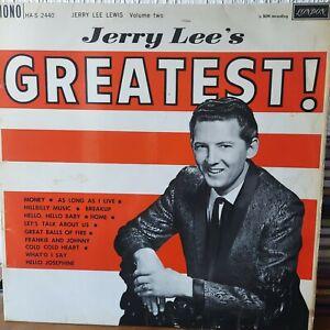 JERRY LEE LEWIS : JERRY LEE'S GREATEST! Vinyl LP