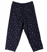 JACADI Girl's Adosser Navy Blue Floral Print Leggings Sz: 4 Years NWT $32
