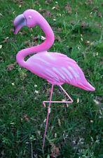 "PINK FLAMINGO YARD ART GARDEN DECORATION  22"" STAKE BIRD"