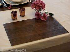 * Holzdekor Tischset Mooreiche, abwaschbar rutschfest Platzset PVC Deko#12